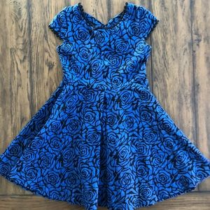 Other - Girls Kiddo by Katie Navy Blue Floral Dress, S 7-8